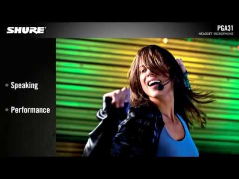 Shure PGA31 Headset Microphone Product Video