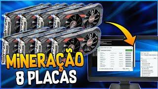LIGANDO 8 PLACAS DE VÍDEO EM UM ÚNICO COMPUTADOR (Bitcoin) ????????????