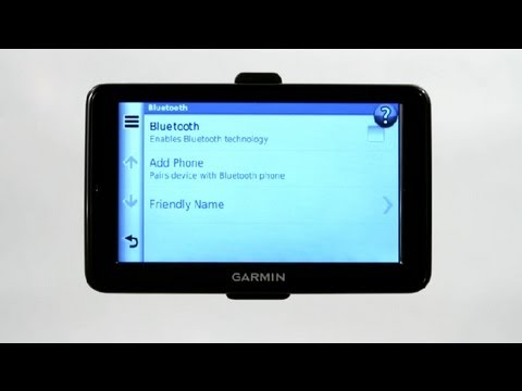 How to Get a Garmin Nuvi to Pair With a Bluetooth : Garmin GPS