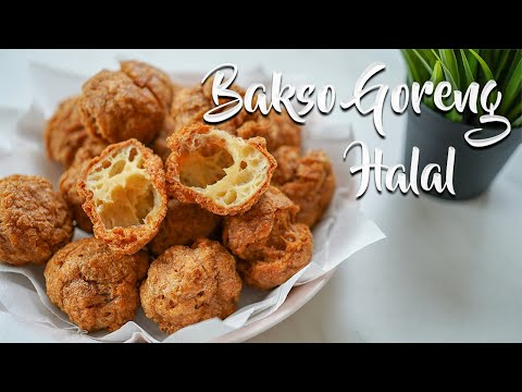MEMBUAT BAKSO GORENG HALAL ANTI GAGAL ! RESEP BAKSO GORENG