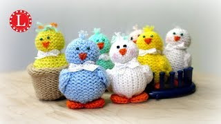 LOOM KNIT Toys on a Round Knitting Loom Tiny Chicks | Strickring | Tejer a Telar | Tricotin | نول