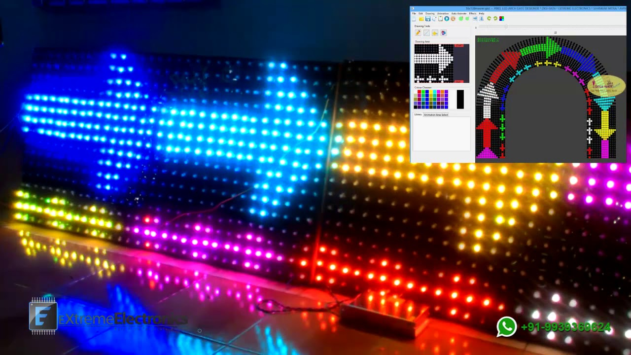 Best Led Pixel Arch Gate Software Easy To Use India Youtube