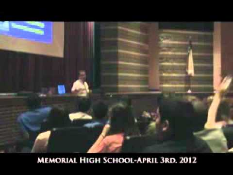 Lecture at Memorial High School 4/3/2012