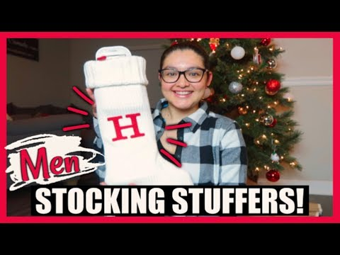 WHAT'S IN MY HUSBANDS CHRISTMAS STOCKING 2018! | Men Stocking Stuffer Ideas