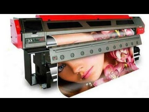 Flex Printing machine. A quick running machine demo...!