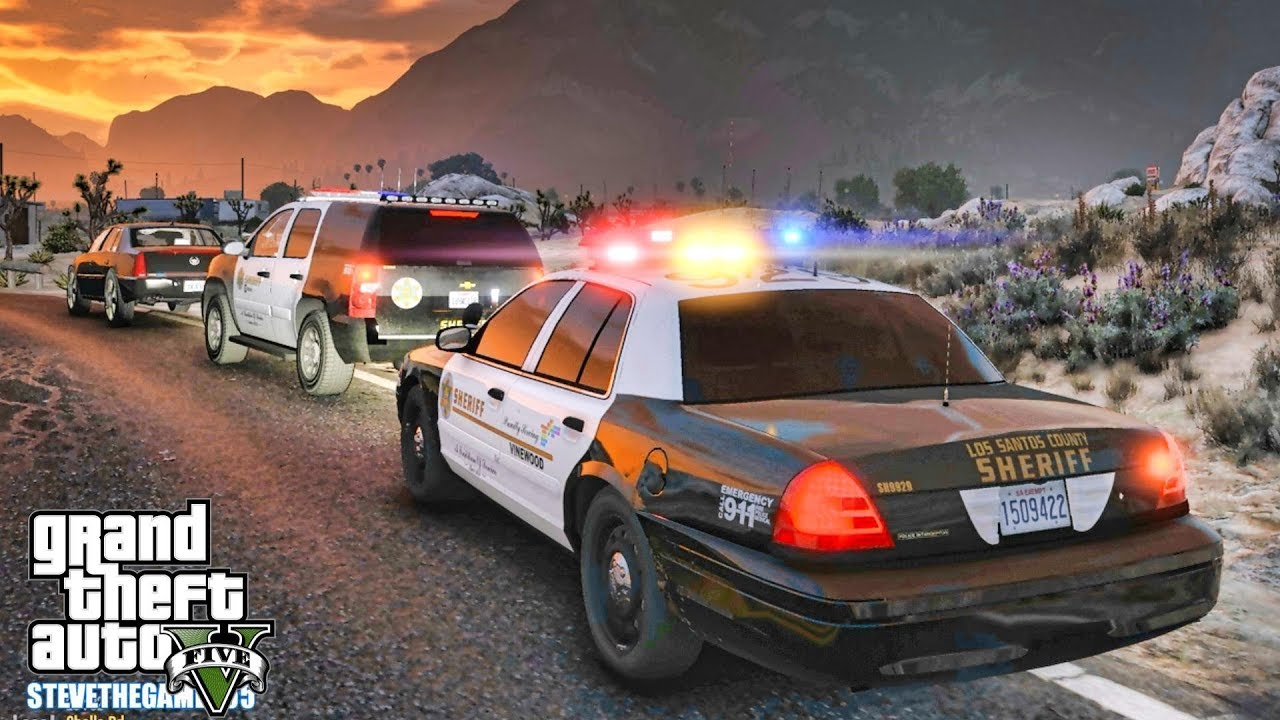 GTA 5 MODS LSPDFR 0 4 - CVPI SHERIFF PATROL!!! (GTA 5 REAL LIFE PC MOD)