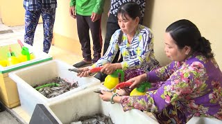 Kiên Giang: Bắt quả tang tụ điểm bơm tạp chất vào tôm nguyên liệu