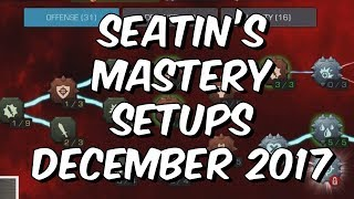 Seatin's Mastery Setups December 2017 - Main Account & Free To Play - Marvel Contest Of Champions thumbnail