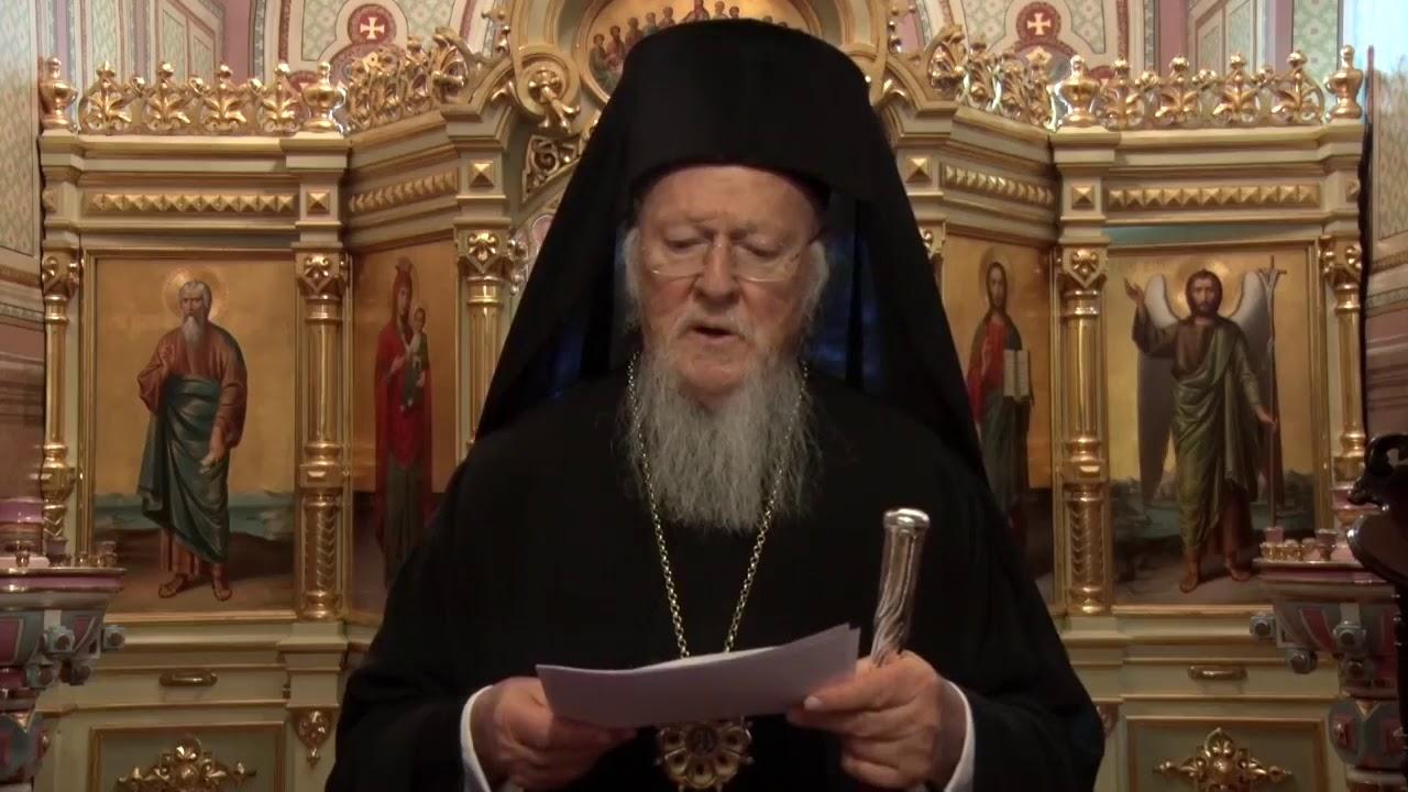 Ecumenical Patriarch Bartholomew Video Message to Orthodox Christians on Coronavirus Pandemic