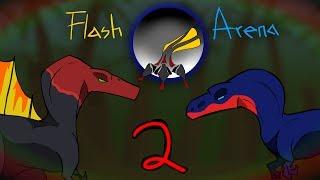 Flash Arena 2 - Spinosaurus vs. Giganotosaurus