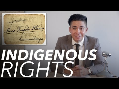 Indigenous Rights | White Man Behind A Desk