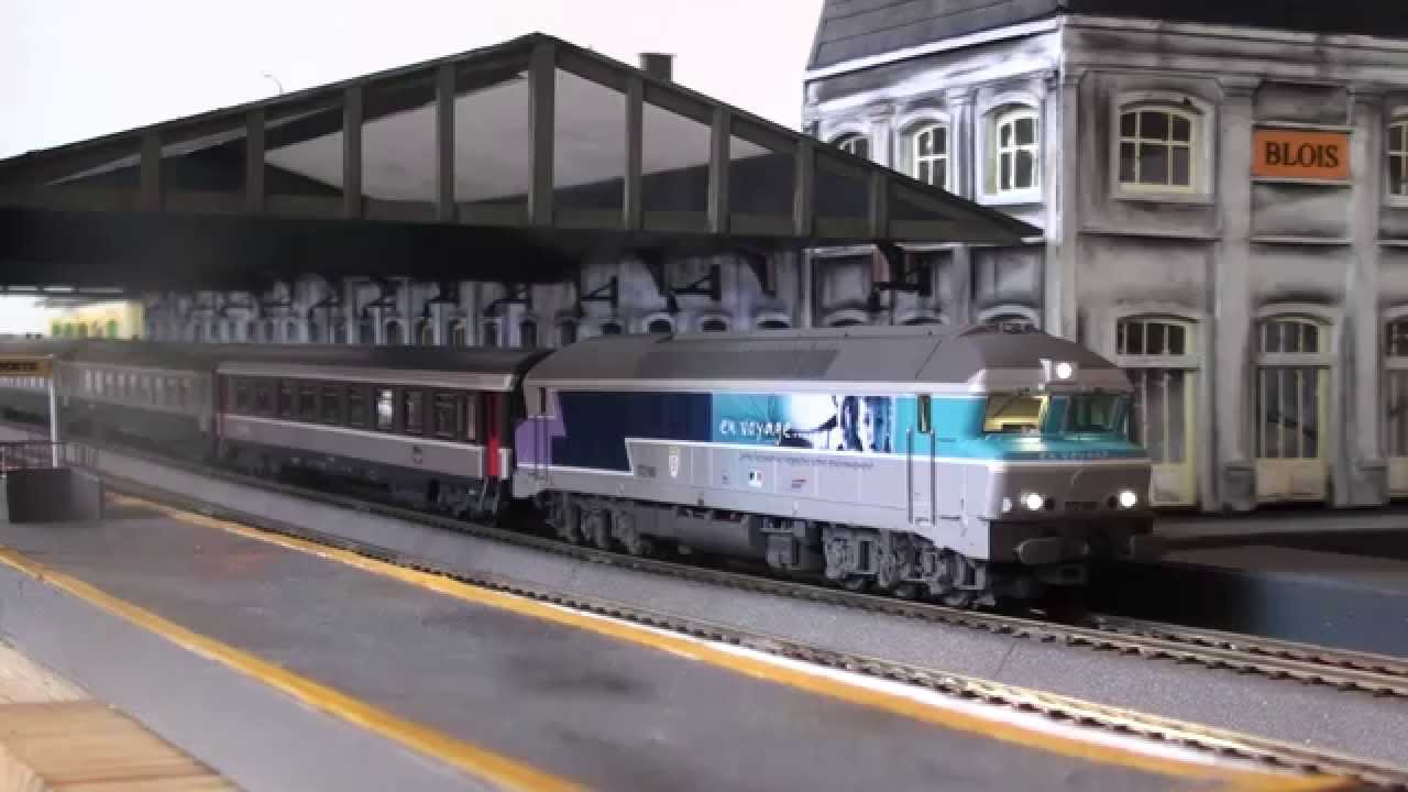 train miniature sncf cc 172180 en voyage sound roco youtube. Black Bedroom Furniture Sets. Home Design Ideas