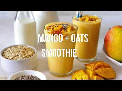 #mangorecipes Healthy Mango Oats Breakfast Smoothie | Mango Smoothie