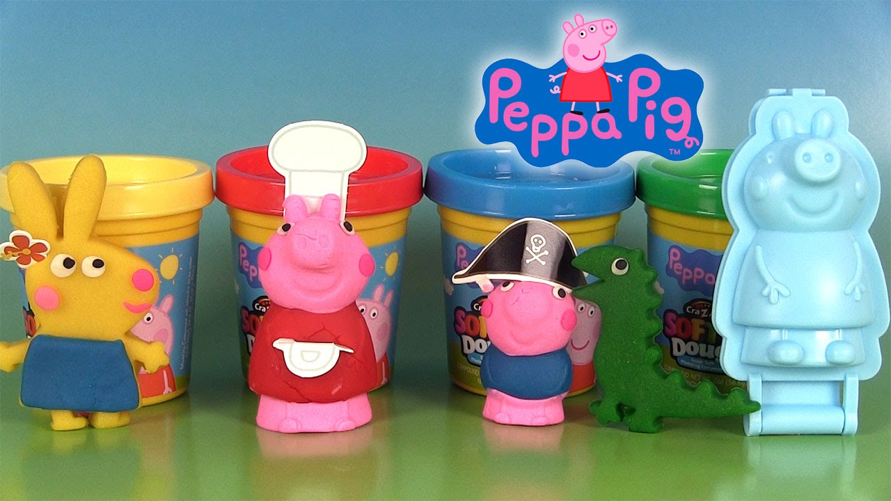 peppa pig p te modeler softee dough mould n play 3d. Black Bedroom Furniture Sets. Home Design Ideas