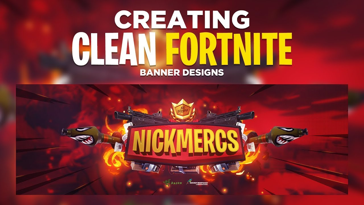 Photoshop Tutorial: Creating a Clean Fortnite Banner Design
