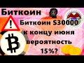 Биткоин S30000 к концу июня вероятность 15%? Банки опять мочат Bitcoin!! Крипто брифинг
