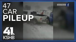 Dramatic video shows 15-car pile-up near Oak Grove