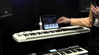 Hyson Music Presents the New Samson Carbon 61 Midi Controller with iPad Dock - Summer NAMM 2012