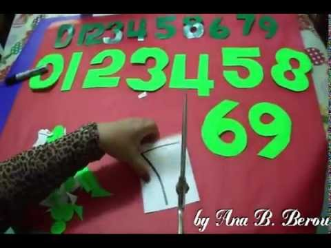 Cutting Numbers 0 to 9 by Ana Berou