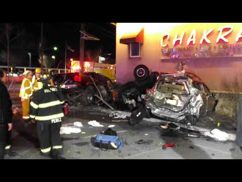 Horrific Crash (VIDEO): Speeding Vehicles Slam Into Route 4 Restaurant