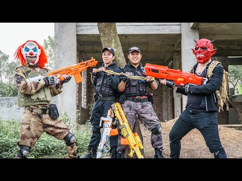 LTT Films : Special Mission Seal XXx Nerf Guns Fight Criminal Group Tiger Mask Chosen One Nerf War