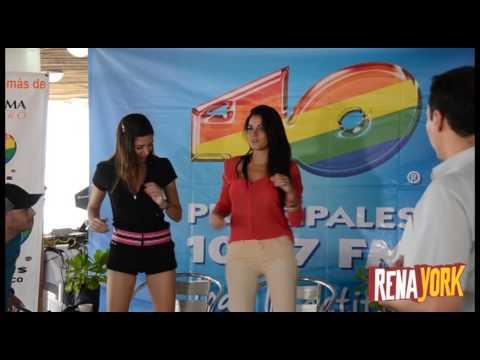 Maite Perroni bailando en Acapulco