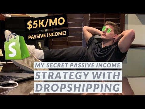 My SECRET $5k/mo PASSIVE INCOME Strategy Dropshipping thumbnail