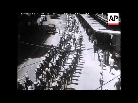 British Troops Leave Shanghai