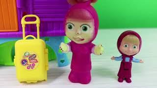 Masha Ve Koca Ayı Joker Maşa Bebekleri Kaçırıyor Polly Pocketin Evinden