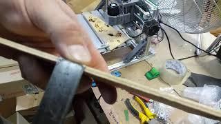 Laser 5500mw cutting plywood