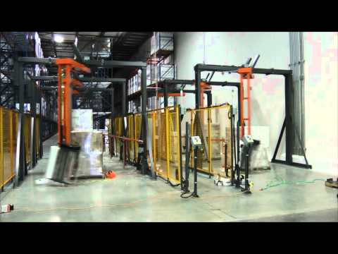 PCTA-2300 Pallet jack loading of automatic stretch wrappers