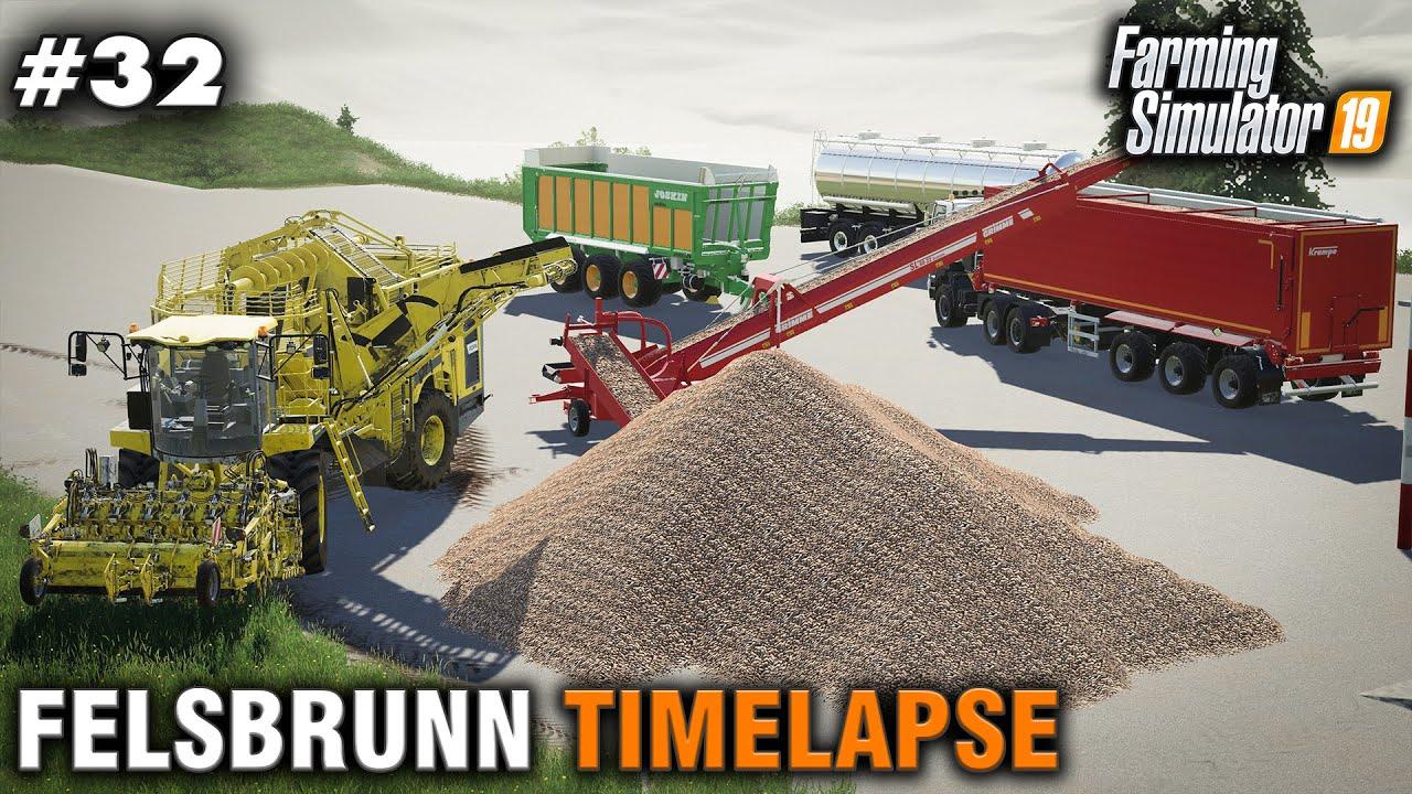 Fs19 Timelapse Felsbrunn 32 Harvesting Sugar Beets Youtube