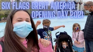 Opening Day 2021 Six Flags Great America in Gurnee Illinois