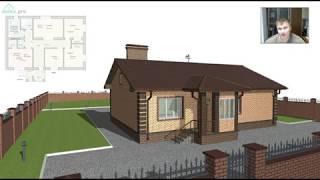 Проект удобного одноэтажного дома на 3 спальни «Тамбов» B-327-ТП