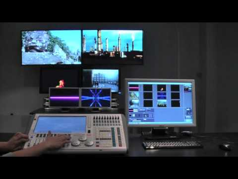 Six screens setup in MediaMaster with one card