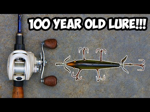 Fishing With 100 Year Old ANTIQUE Fishing Lures!