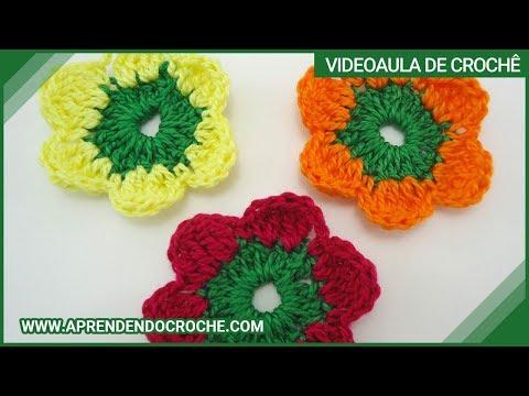 Flor de Croch? Maria sem Vergonha - Aprendendo Croch? - YouTube