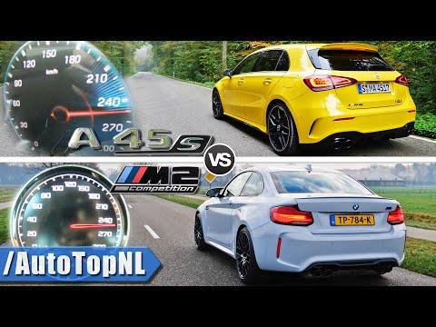 A45 AMG 2020 vs 2020 BMW M2 Competition | 0-250km/h ACCELERATION POV & SOUND by AutoTopNL