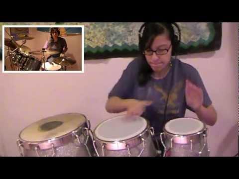 Party Rock Anthem-LMFAO (Drum Set, Congas, Darbuka Cover)- Sarah T