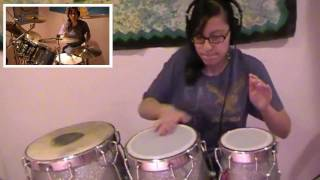 Party Rock Anthem-LMFAO (Drum Set, Congas, Darbuka Cover)- Sarah T