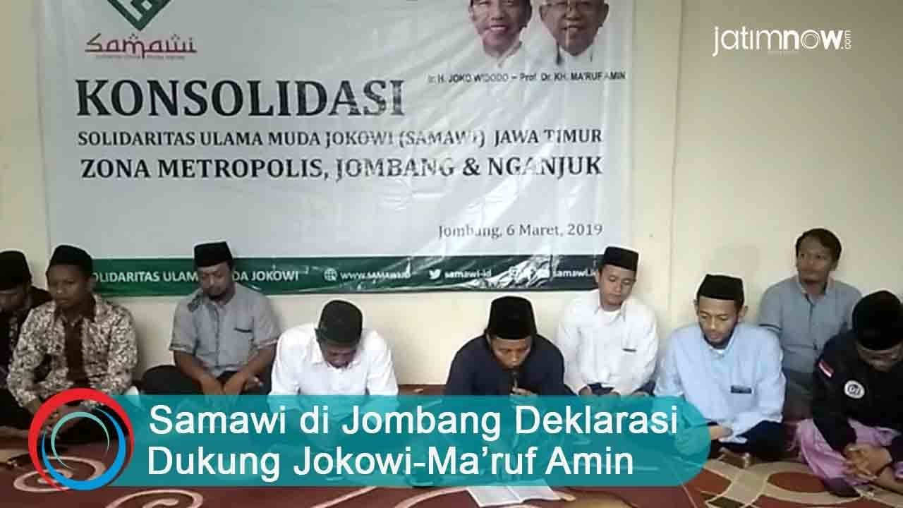 Video Samawi Di Jombang Deklarasi Dukung Jokowi Ma Ruf Amin
