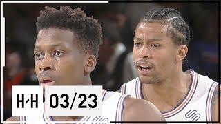 Frank Ntilikina & Trey Burke Full Highlights Timberwolves vs Knicks (2018.03.23) - 28 Pts Combined