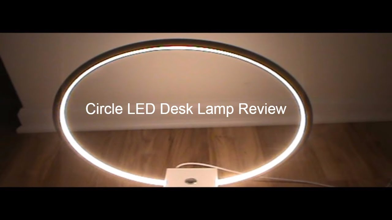 Brightech U2013 Circle LED Table U0026 Desk Lamp Review And Demonstration