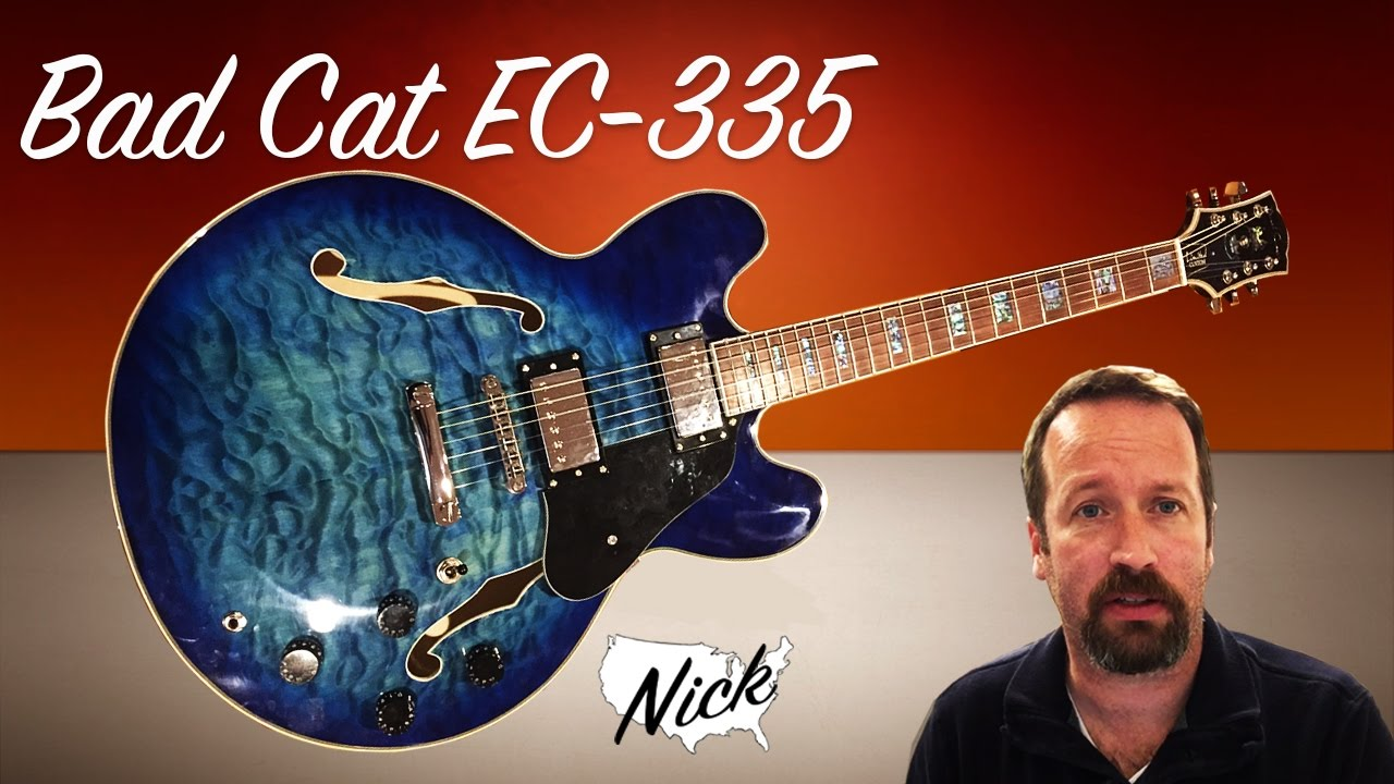 guitar review bad cat ec 335 move over chibson not a gibson it 39 s a bad kitty cat youtube. Black Bedroom Furniture Sets. Home Design Ideas