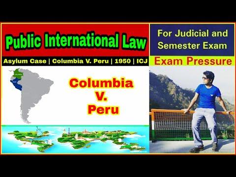 Asylum Case | Columbia V. Peru, 1950 | ICJ | Diplomatic Asylum | Aasim Yezdani