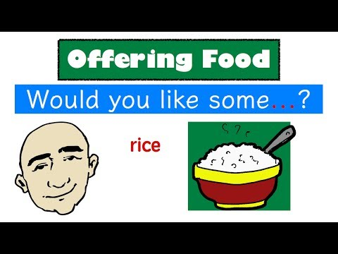 Would You Like Some ... ? | Food Vocabulary | English Speaking Practice | ESL | EFL | ELL