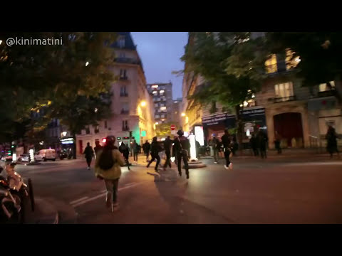 French Riot Police beating up an unprovoking protester on presidential election night (Paris, 7 May)