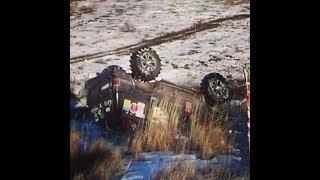 Еще один ПЕРЕВОРОТ который попал в кадр рулевая тяга лопнула Toyota Land Cruiser 80 25.02,2017