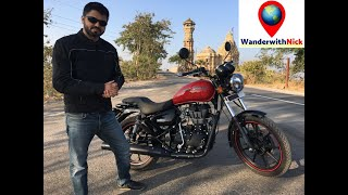 Royal Enfield Thunderbird X350 ABS Review (in hindi) & Ride on Chittorgarh Fort