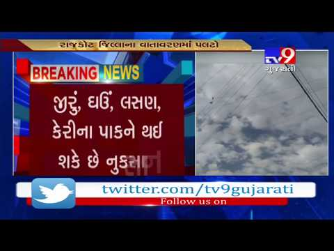 rajkot:-cloudy-weather-puts-farmers-into-fear-of-crop-failure--tv9